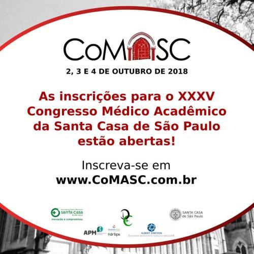 Inscricoes CoMASC 2018